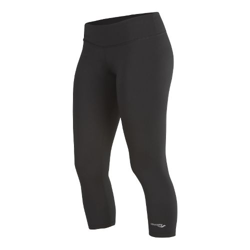 Womens Saucony Scoot Capri Tights - Black XS