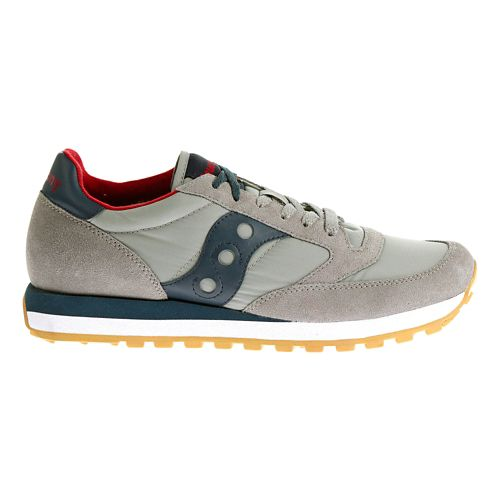 Mens Saucony Jazz Original Casual Shoe - Grey Dark Blue 10