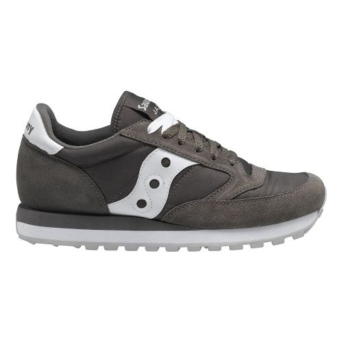 Mens Saucony Jazz Original Casual Shoe - Charcoal/White 9