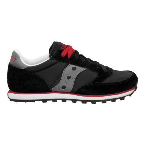 Mens Saucony Jazz Low Pro Casual Shoe - Black/Dark Grey 9