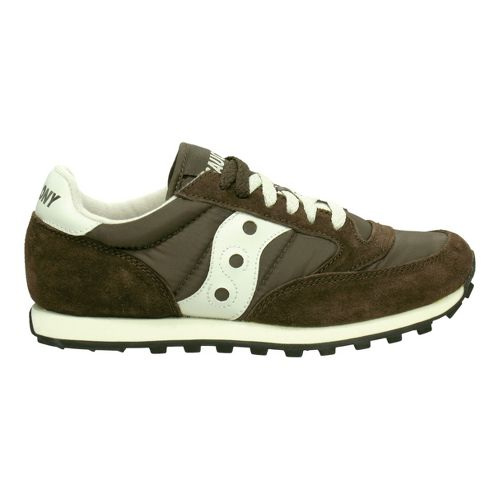 Mens Saucony Jazz Low Pro Casual Shoe - Brown/Tan 7