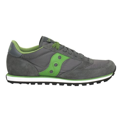 Mens Saucony Jazz Low Pro Casual Shoe - Dark Grey/Green 8.5