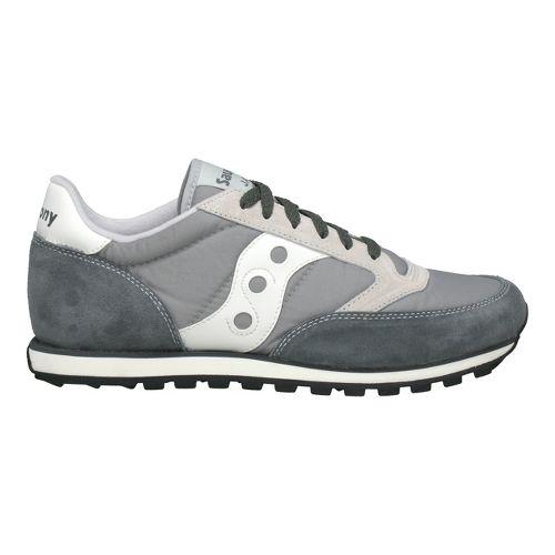 Mens Saucony Jazz Low Pro Casual Shoe - Grey/White 9