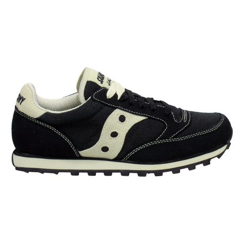 Mens Saucony Jazz Low Pro Vegan Casual Shoe - Black/Oatmeal 8