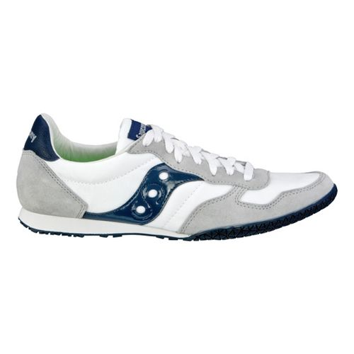 Mens Saucony Bullet Casual Shoe - White/Navy 14