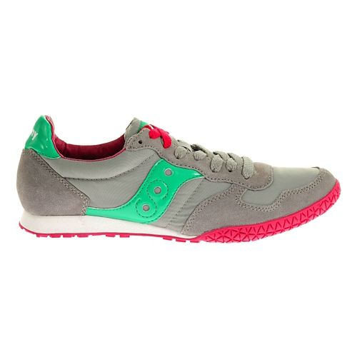 Womens Saucony Bullet Casual Shoe - Grey/Teal 11