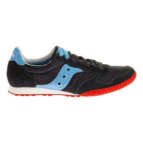 Womens Saucony Bullet Casual Shoe - Charcoal/Light Blue 8.5