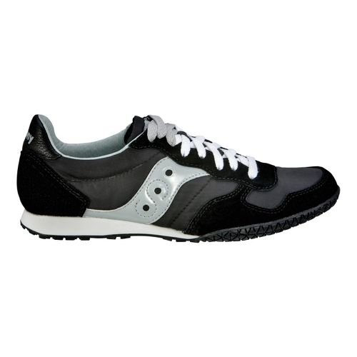 Womens Saucony Bullet Casual Shoe - Black/Silver 6.5