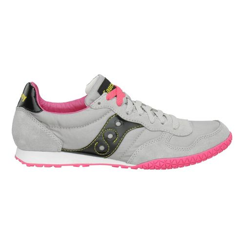 Womens Saucony Bullet Casual Shoe - Grey/Black 8.5