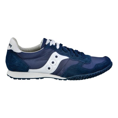 Womens Saucony Bullet Casual Shoe - Navy/White 5.5