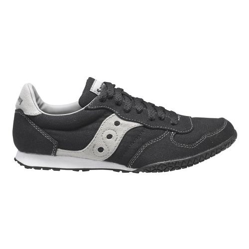 Womens Saucony Bullet Vegan Casual Shoe - Black/Grey 6.5