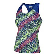 Womens Saucony Velo Print Tanks Technical Tops
