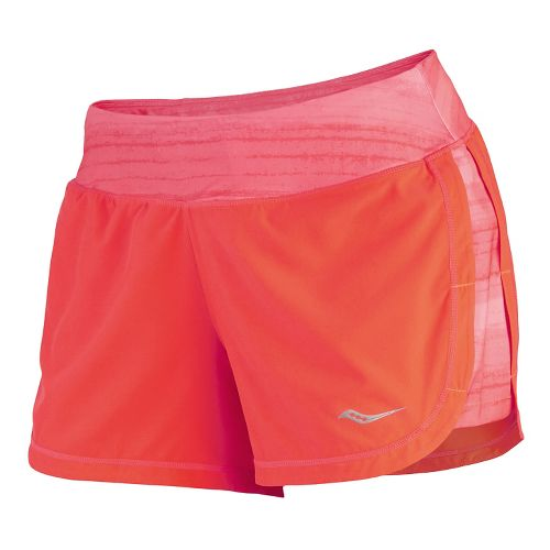 Womens Saucony Impulse Shorts - Vizipro Electric L