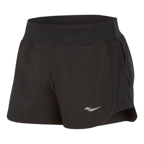 Womens Saucony Impulse Shorts - Black/Black XS