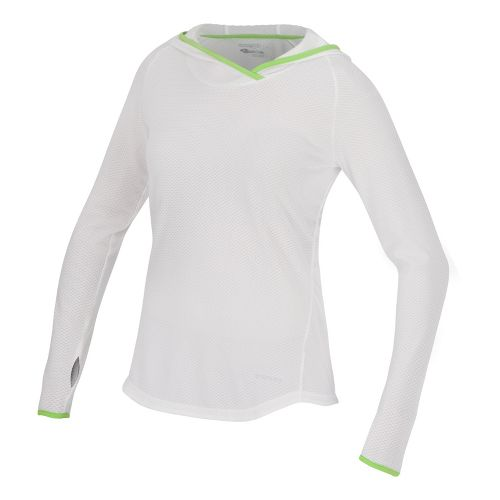 Womens Saucony Transition Hoody Warm-Up Hooded Jackets - White/Acid Green M