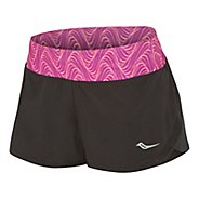 Womens Saucony Pinnacle Lined Shorts