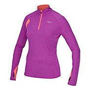 Womens Saucony Transition Sportop Long Sleeve 1/2 Zip Technical Tops