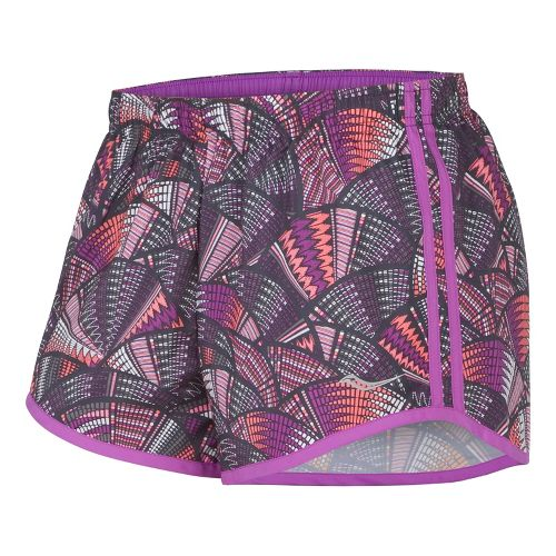 Womens Saucony Printed PE Lined Shorts - Oceania/White XL