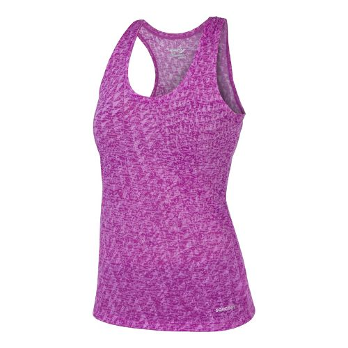 Womens Saucony Daybreak Tanks Technical Tops - Passion Purple S