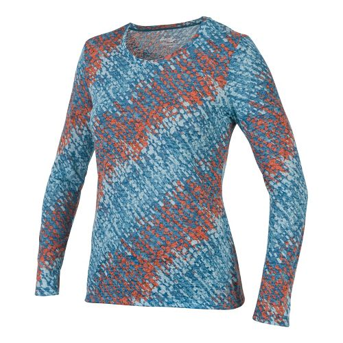 Womens Saucony Daybreak Long Sleeve No Zip Technical Tops - River/Firecracker XL
