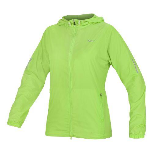 Womens Saucony X-Lite Packable Running Jackets - Acid Green L
