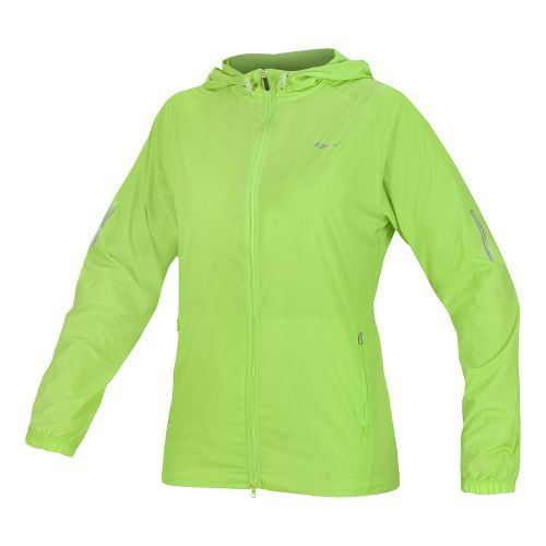 Womens Saucony X-Lite Packable Running Jackets - Acid Green XS