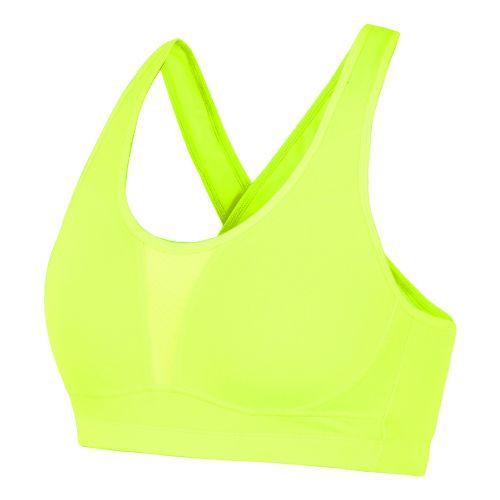 Womens Saucony Curve Crusader Sports Bras - Vizipro Citron 36C