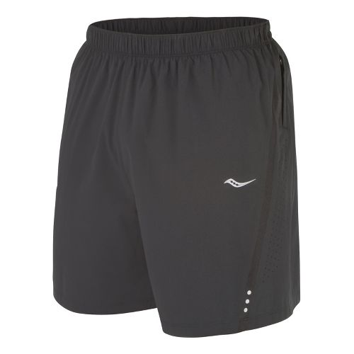 Mens Saucony Run Lux III Lined Shorts - Black/Black S
