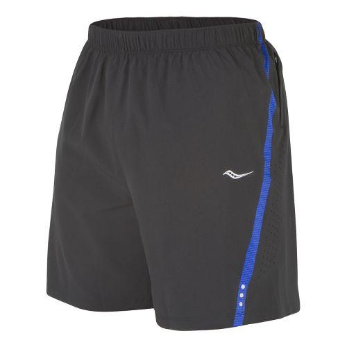 Mens Saucony Run Lux III Lined Shorts - Black/Cobalt S