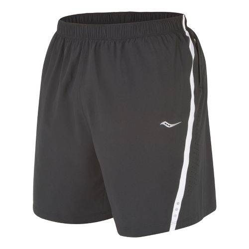 Mens Saucony Run Lux III Lined Shorts - Black/White XL