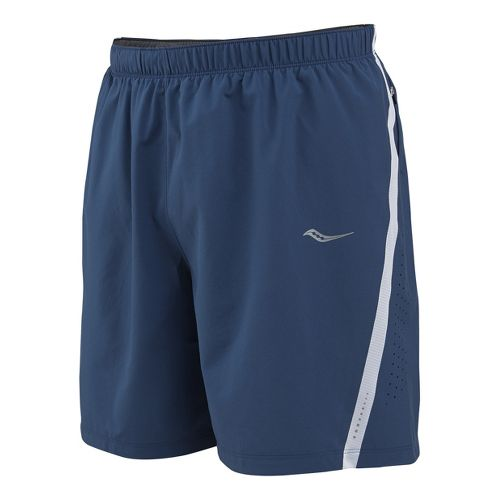 Mens Saucony Run Lux III Lined Shorts - Tek Navy/White L