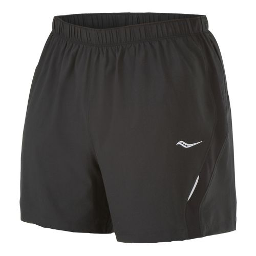 Mens Saucony Throttle Lined Shorts - Black/Black L