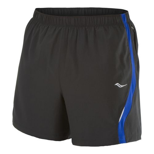 Mens Saucony Throttle Lined Shorts - Black/Cobalt S