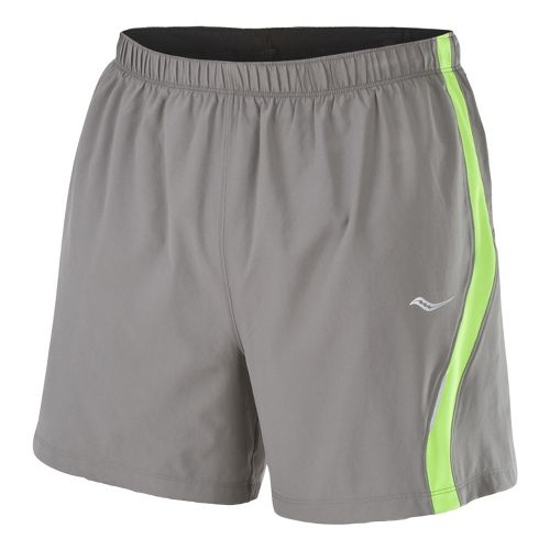 Mens Saucony Throttle Lined Shorts - Element/Acid Green L