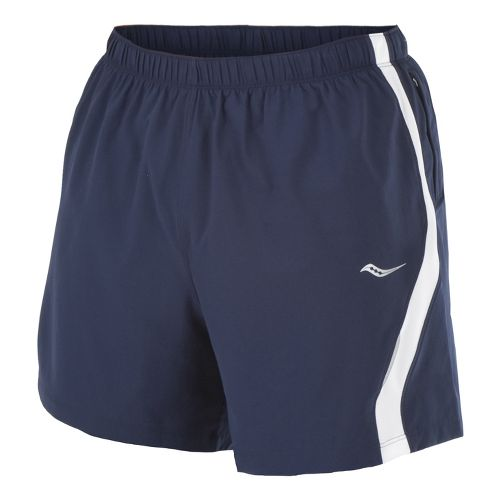 Mens Saucony Throttle Lined Shorts - Navy/White M