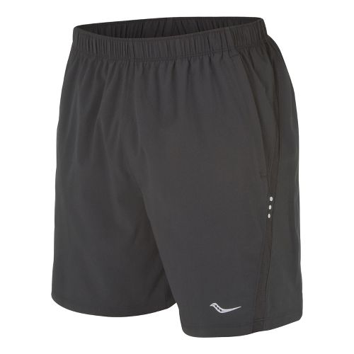 Mens Saucony Cohesion Lined Shorts - Black/Black S