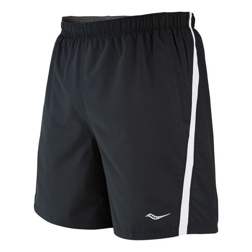 Mens Saucony Cohesion Lined Shorts - Black/White L