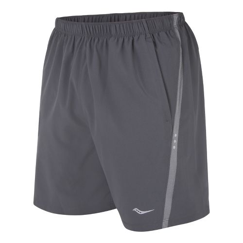 Mens Saucony Cohesion Lined Shorts - Carbon/Element XXL