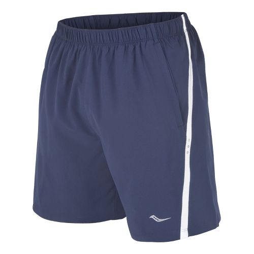 Mens Saucony Cohesion Lined Shorts - Navy/White L