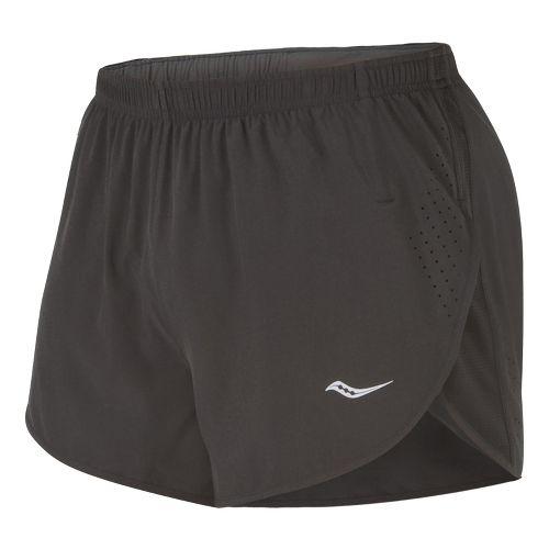 Mens Saucony Inferno Splits Shorts - Black/Black XL