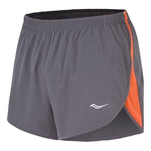 Mens Saucony Inferno Splits Shorts - Black/Element XL