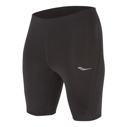 Mens Saucony Inferno Tight Fitted Shorts - Black/Black L