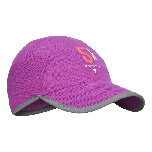Saucony Milestone A.M. Run Cap Headwear - Passion Purple
