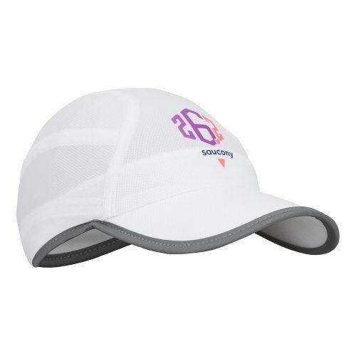Saucony Milestone A.M. Run Cap Headwear - White