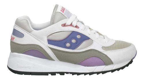 Womens Saucony Shadow 6000 Running Shoe - White/Grey 5.5