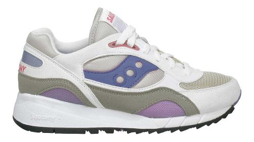 Womens Saucony Shadow 6000 Running Shoe - White/Grey 6.5