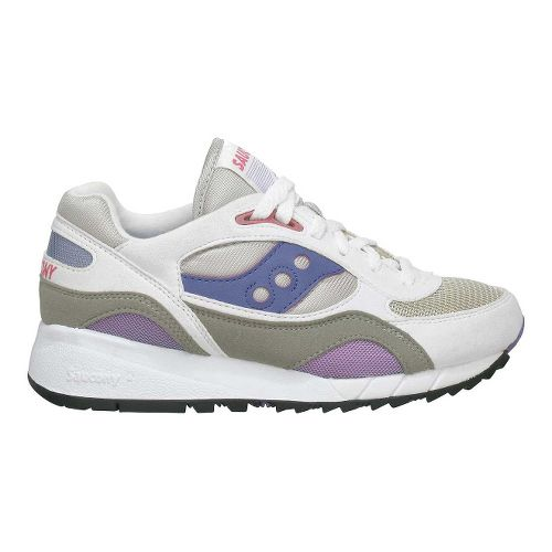 Womens Saucony Shadow 6000 Running Shoe - White/Grey 9.5