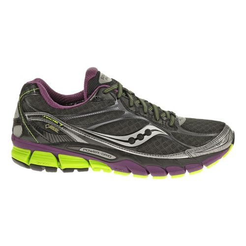 Womens Saucony Ride 7 GTX Running Shoe - Black/Purple 9.5