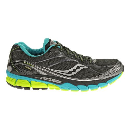Mens Saucony Ride 7 GTX Running Shoe - Black/Blue 11.5
