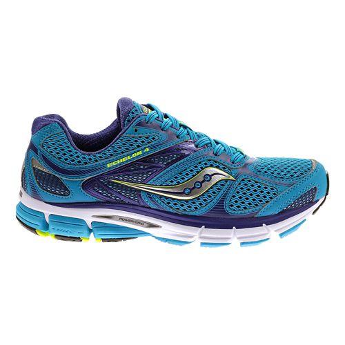 Womens Saucony Echelon 4 Running Shoe - Blue/Purple 10